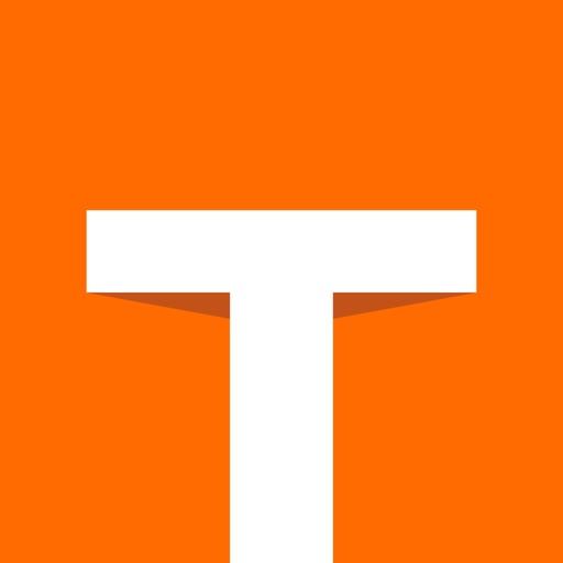 Orange Color Tab square Logo